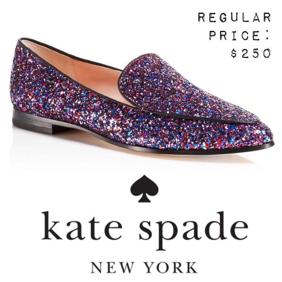 f2e96932054 NWT KATE SPADE Calliope Glitter Loafer 7